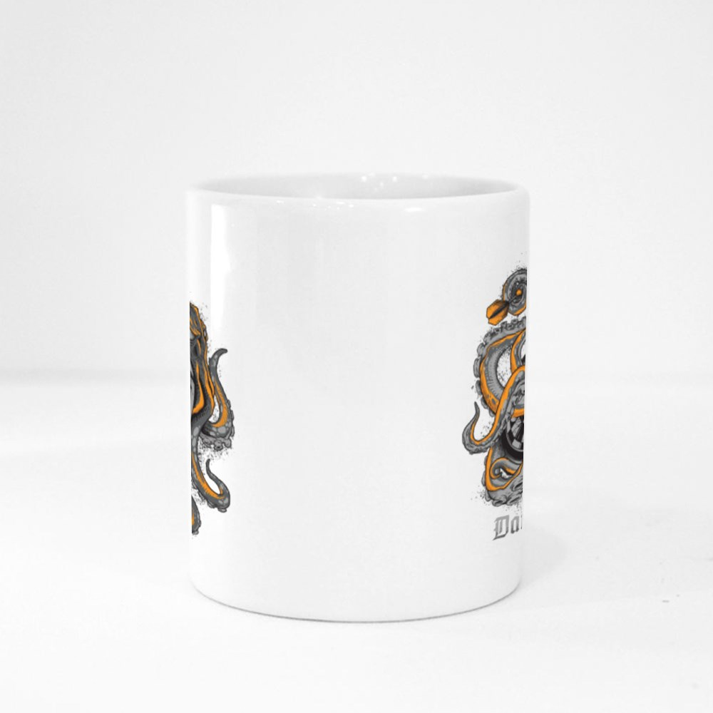 Octopus Wrapped Around a Dart Board Magic Mugs