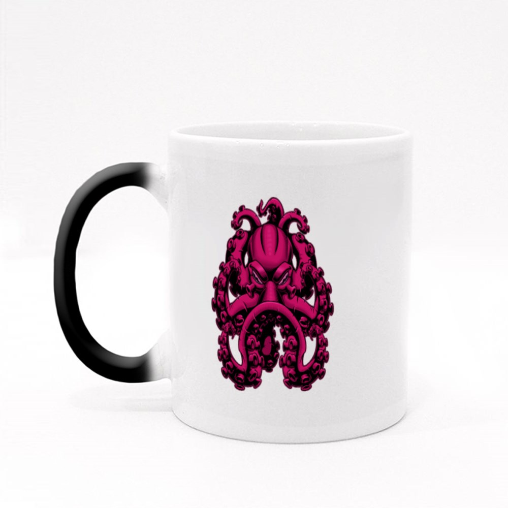 Scary Octopus With Serious Looks Magic Mugs