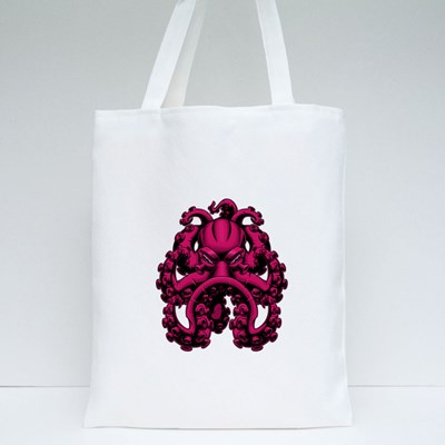 Scary Octopus With Serious Looks Tote Bags