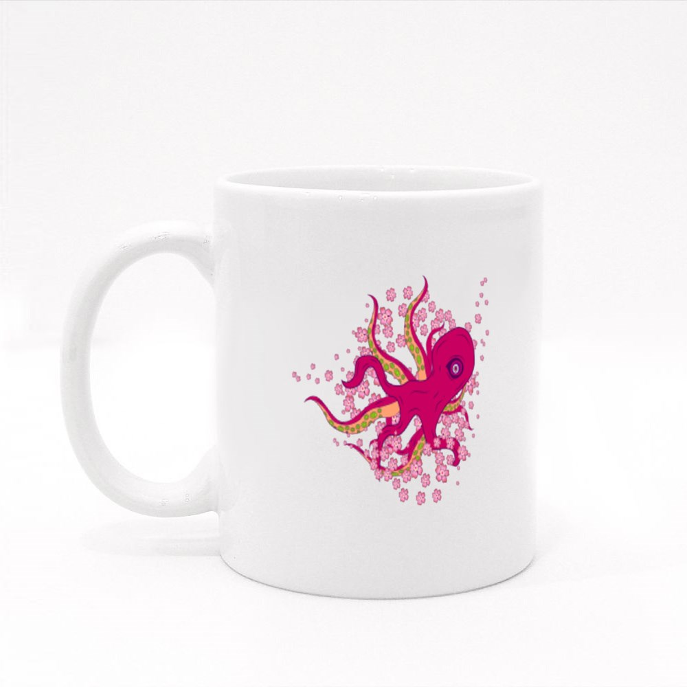Japanese Style Octopus Colour Mugs