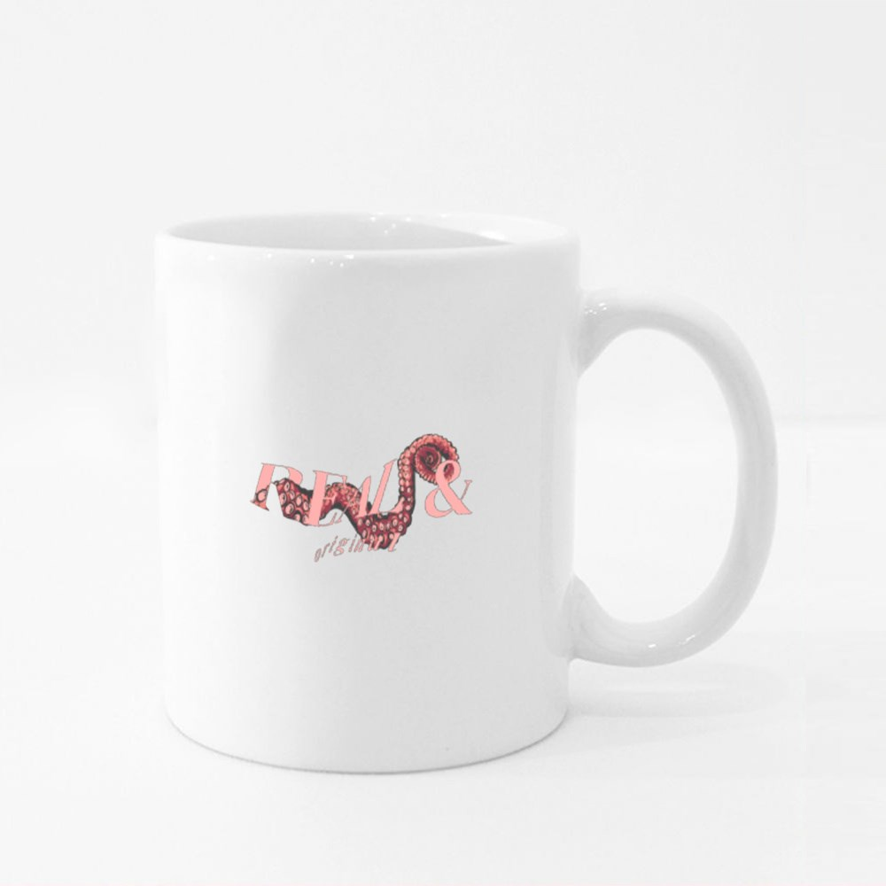 Real and original rippled with Octopus tentacles Colour Mugs
