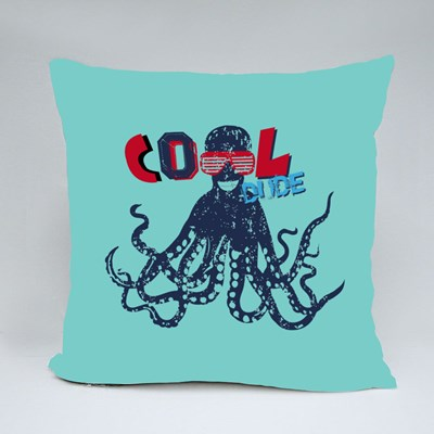 Octopus With Glasses: Cool Dude Throw Pillows