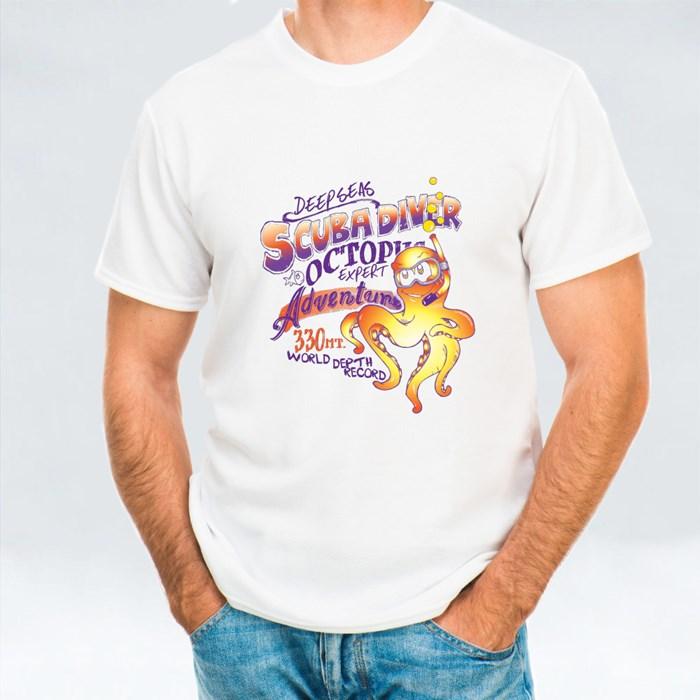 Octopus Scuba Diver Cartoon T-Shirts