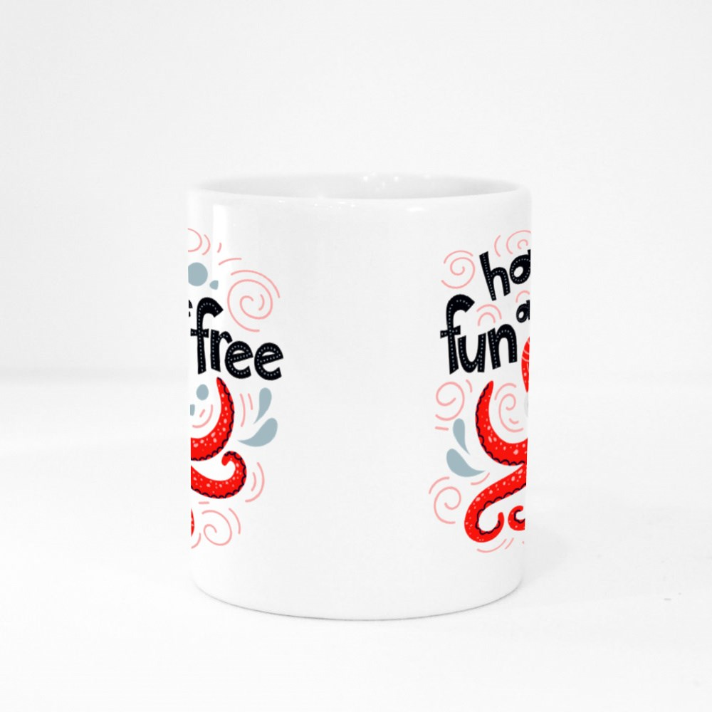 Have Fun and Be Free Colour Mugs