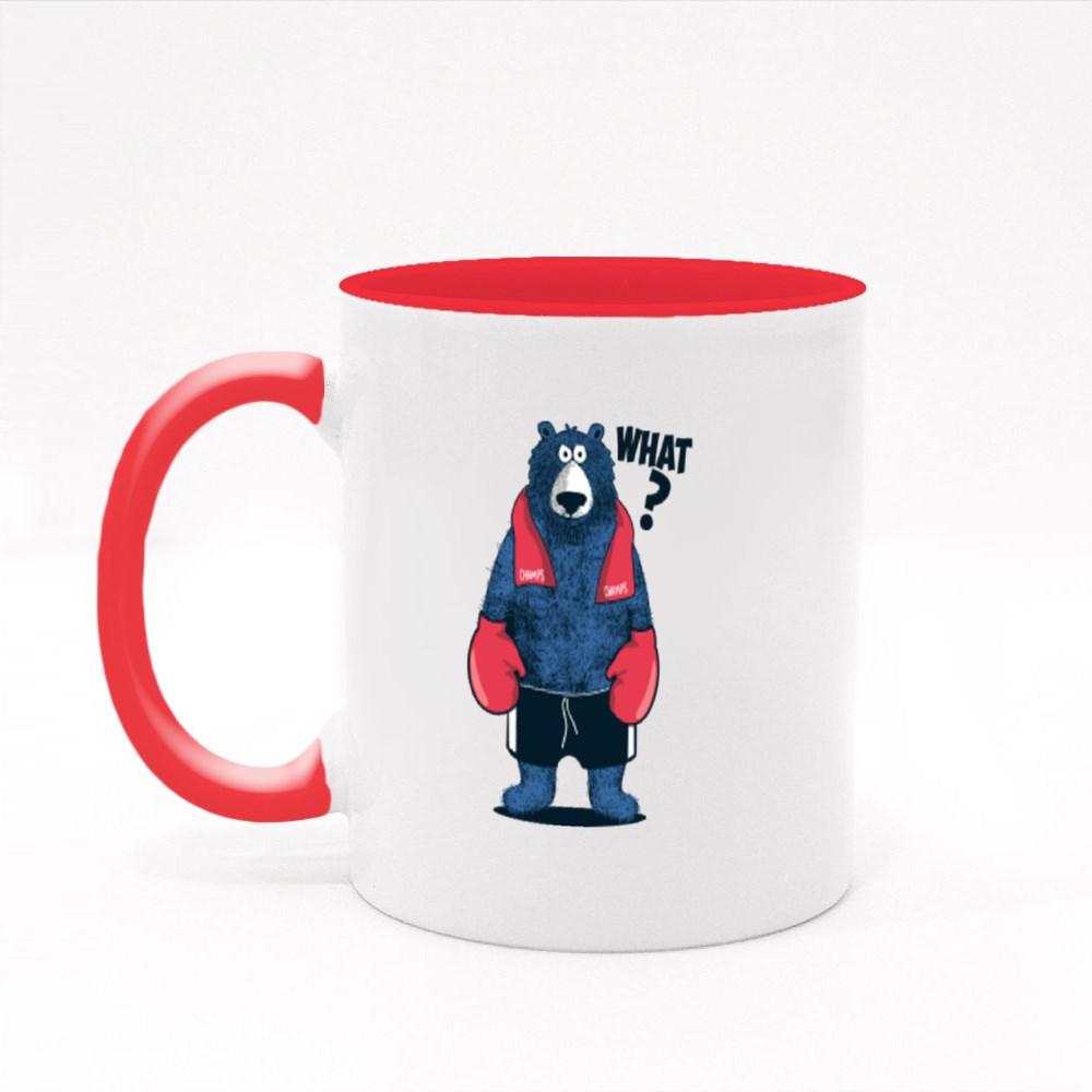 Boxer Bear Say What Colour Mugs
