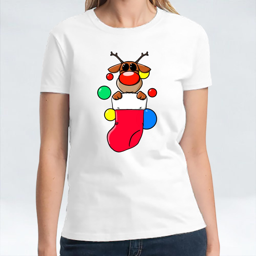Reindeer in a Sock T-Shirts