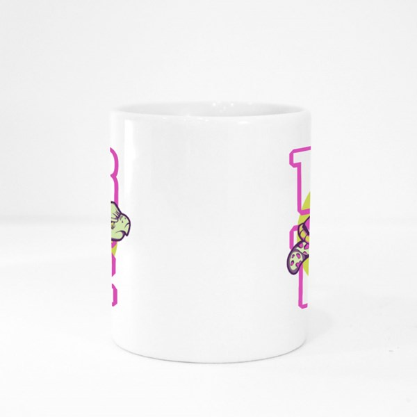 Colourful Turtle With Magenta Shell Colour Mugs