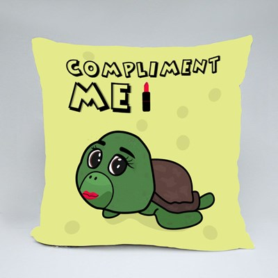 Funny Turtle With Make Up 抱枕