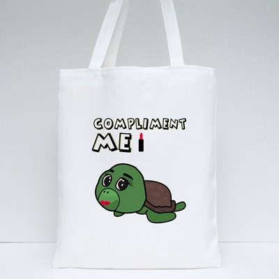 Funny Turtle With Make Up 帆布袋
