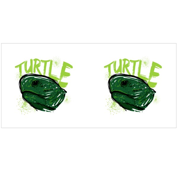 Sketches of a Turtle Head Colour Mugs