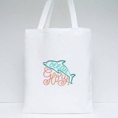 Ocean Glory Positive Motivational Quotes Tote Bags