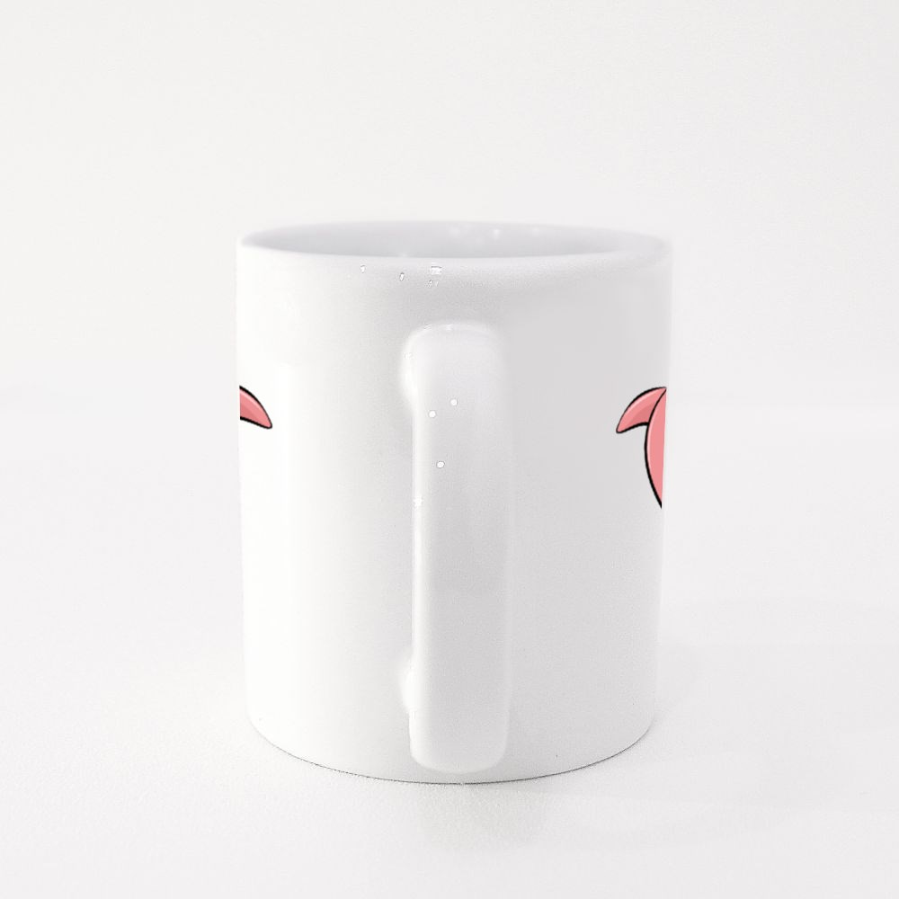 Dolphin in the Shape of a Heart Colour Mugs