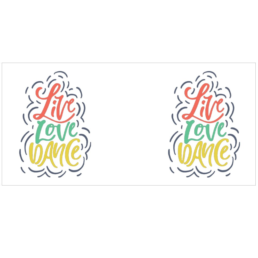 Live Love and Dance. Colour Mugs