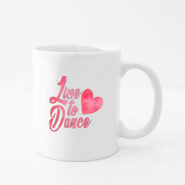 Live to Dance With a Heart Colour Mugs