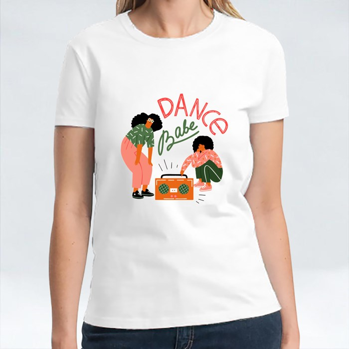 Funky Girls With Record Player Dancing on the Street T-Shirts
