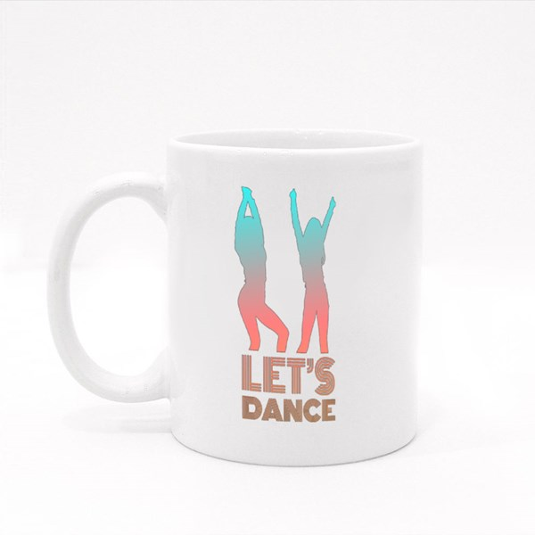 Dancer Let's Dance Silhouette Colour Mugs