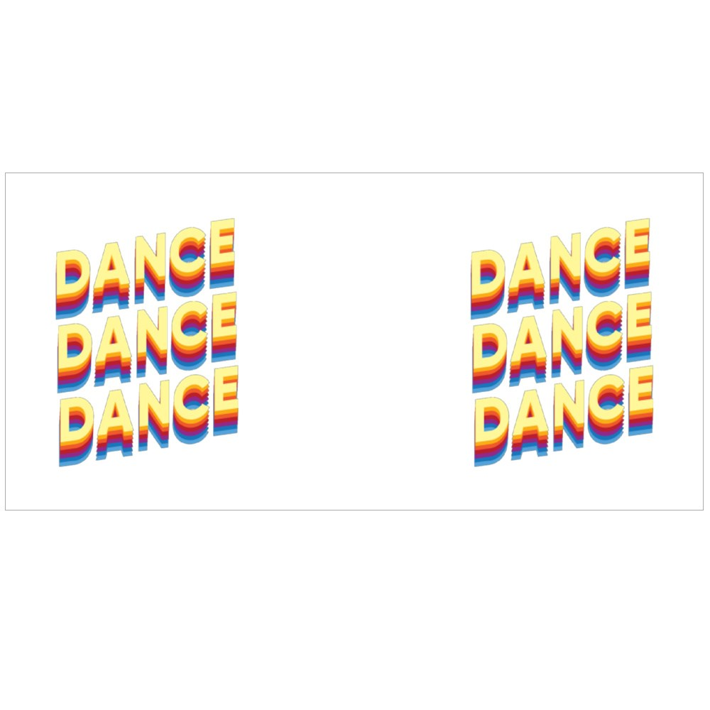 Dance Dance Dance Multi-Color Text Magic Mugs