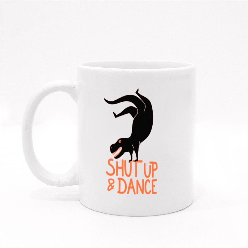 T-Rex Shut Up & Dance Colour Mugs