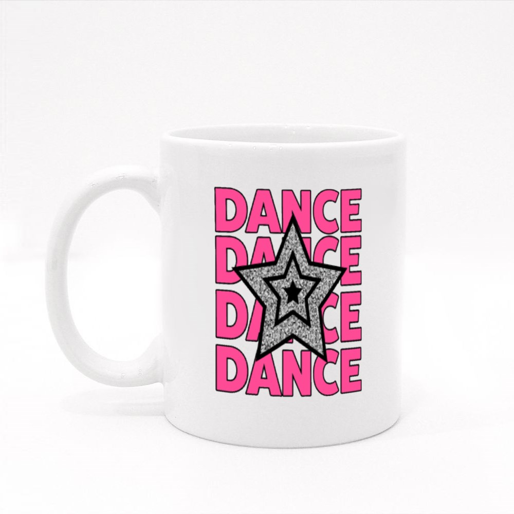Glittering Star and Dance Colour Mugs