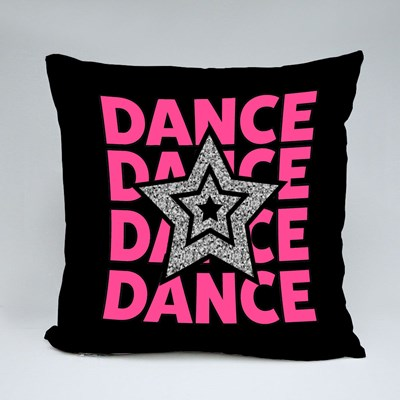 Glittering Star and Dance Throw Pillows