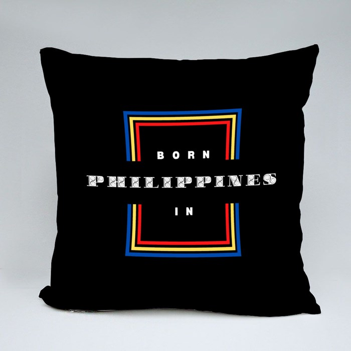 Born in the Philippines Throw Pillows