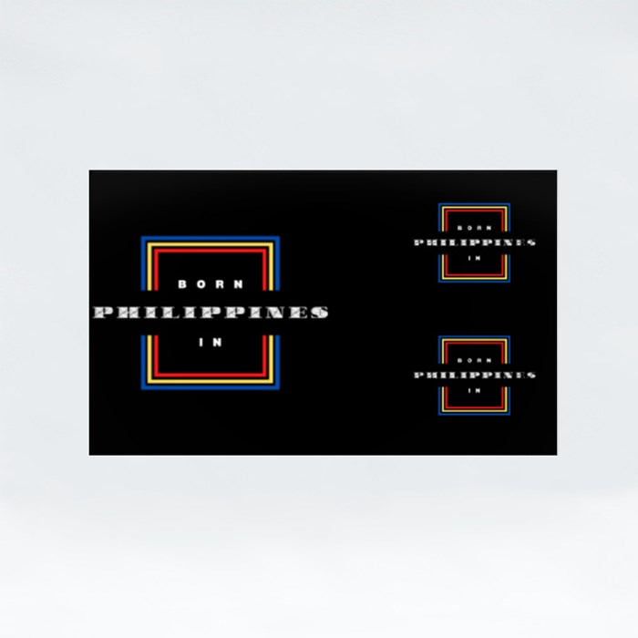 Born in the Philippines Stickers (Rectangle)