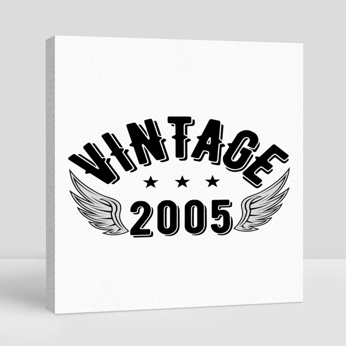 Vintage 2005 B Canvas (Square)