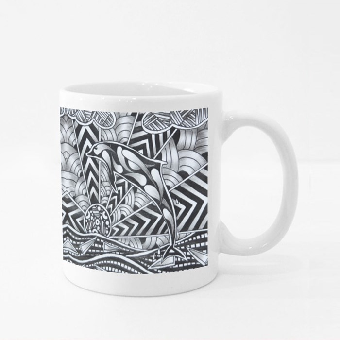 Zentangle 2 Colour Mugs