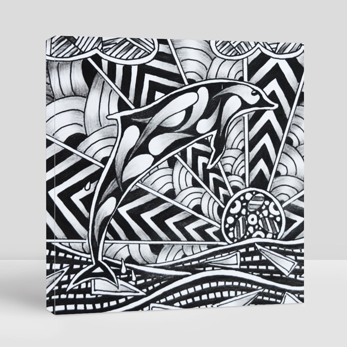 Zentangle 2 Canvas (Square)