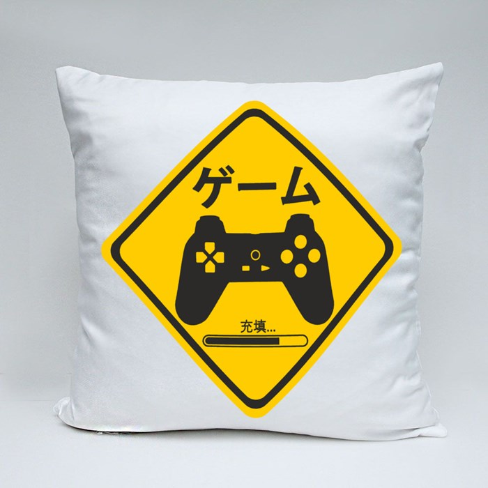The Gamer Sign 3 Throw Pillow Throw Pillows