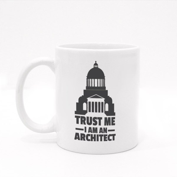 Trust Me I Am Architect Colour Mugs