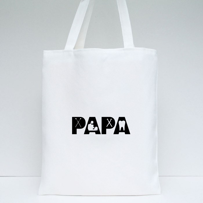 Dentist Papa Father's Day Tote Bags