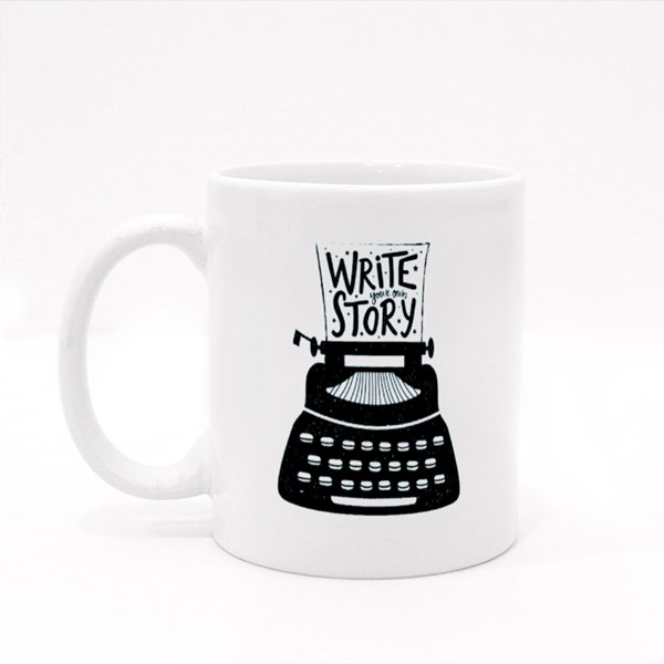 Write Story on a Typewriter Colour Mugs