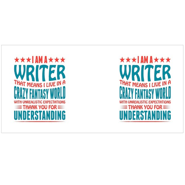 I Am a Writer Quotes Colour Mugs