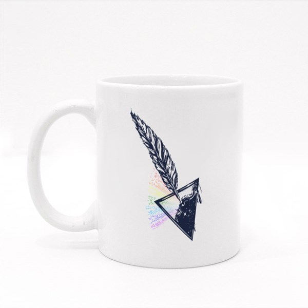 Feather and Ink Tattoo Colour Mugs