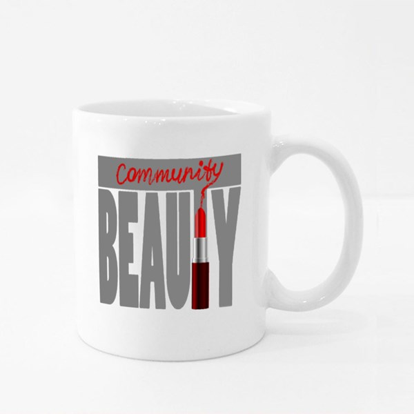 Beauty Community and Red Lipstick Colour Mugs