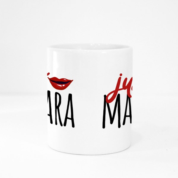 Just Mascara and Red Lips Colour Mugs