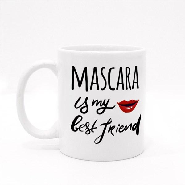 Mascara Is My Best Friend Colour Mugs