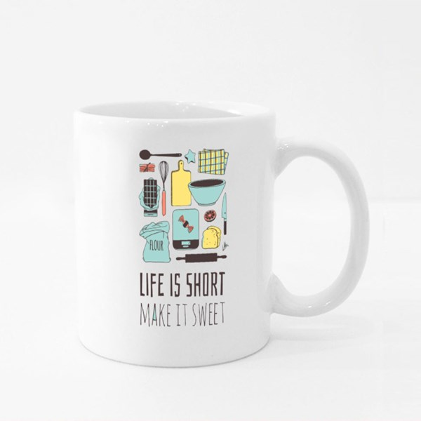 Life Is Short Make It Sweet Colour Mugs