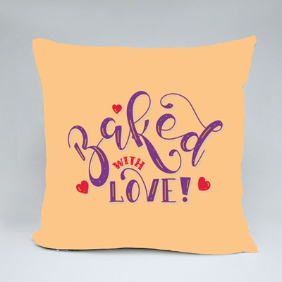 Baker's Quote Baked With Love Throw Pillows