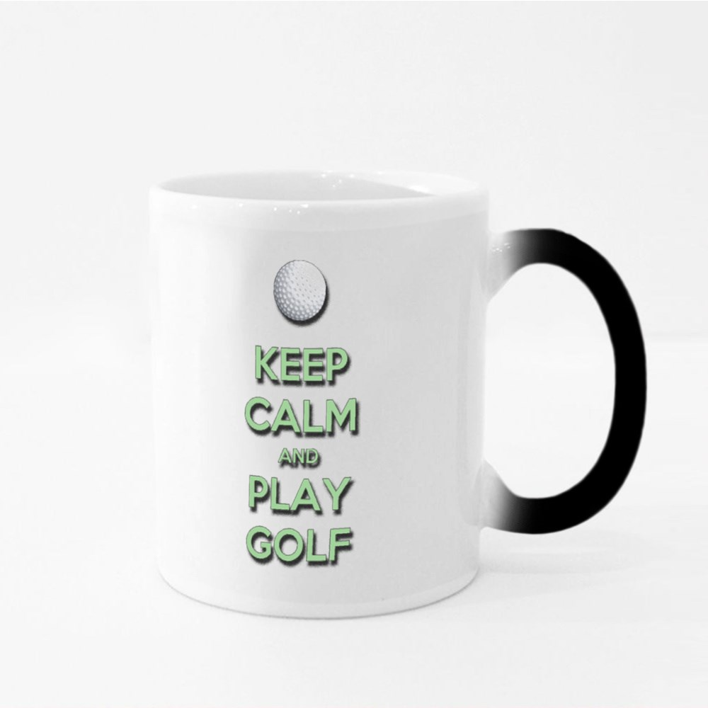 Keep Calm and Play Golf Magic Mugs