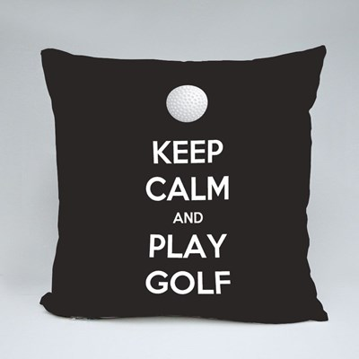 Keep Calm and Play Golf Throw Pillows