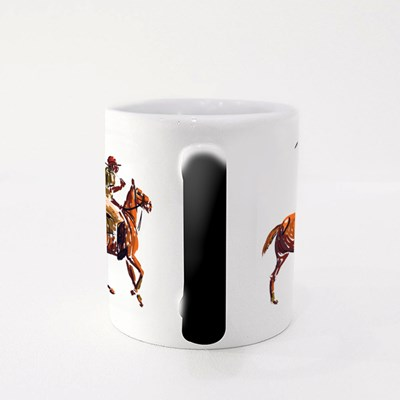 Horse Polo Stroked Magic Mugs