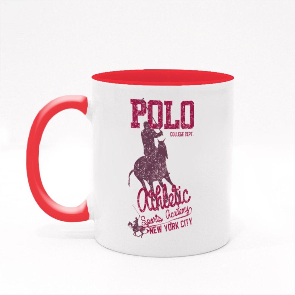 College Polo Player Colour Mugs