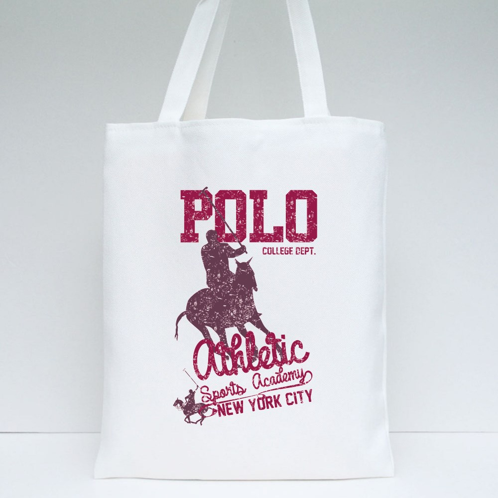 College Polo Player Tote Bags