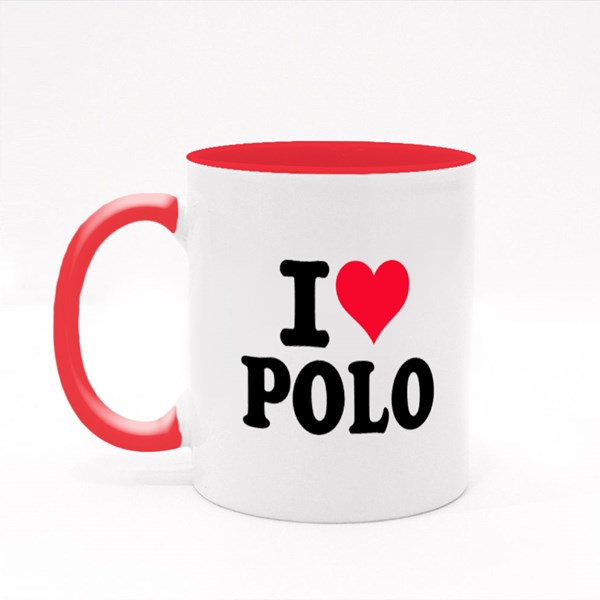 I Love Polo Colour Mugs