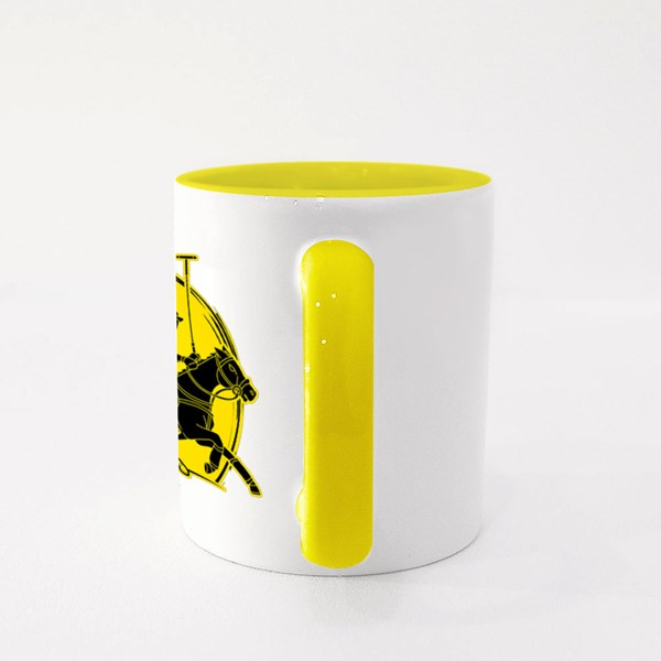 Horses Polo Players Action Cartoon Colour Mugs