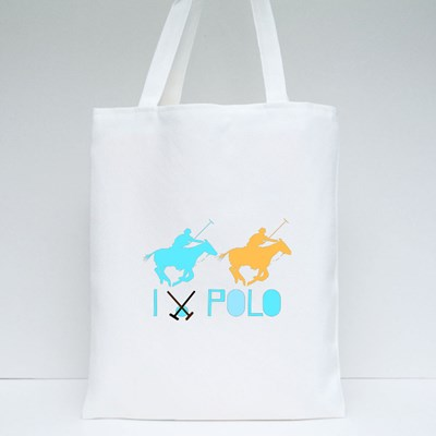 Poster With Horses Tote Bags