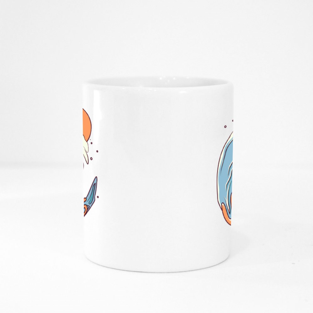 Surfing Wtih a Tidal Wave Colour Mugs