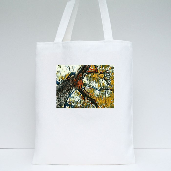 Looking up the Tree Tote Bags